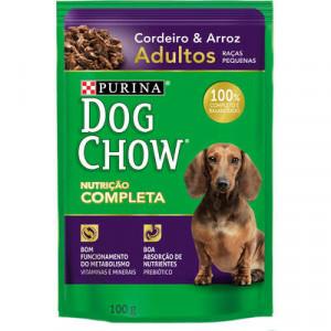 Sachê Purina Dog Chow Raças Pequenas - sabor Cordeiro e Arroz - 100g