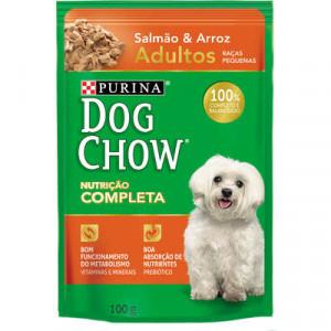Sachê Purina Dog Chow Adultos- sabor Salmão e Arroz - 100g