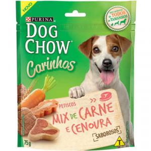 Petisco Dog Chow Carinhos Cães Adultos - Carne e cenoura - 75g