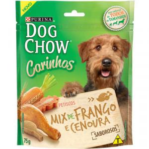 Petisco Dog Chow Carinhos Cães Adultos - Frango e cenoura - 75g