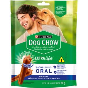 Petisco Dog Chow Oral Cães Adultos Raças Médias e Grandes -88g