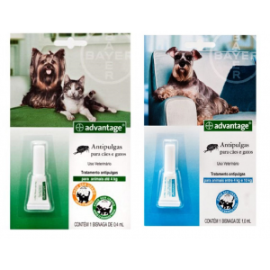 Advantage Cães e Gatos - 0,4ml / 1ml
