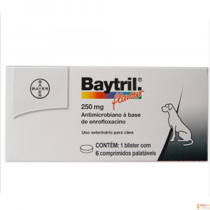 Baytril Flavour - 250mg - 6 comprimidos