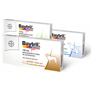 Baytril Flavour - 15mg/50mg/150mg - 10 comprimidos