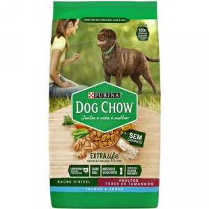 Dog Chow Adulto Frango e Arroz - 3/15kg