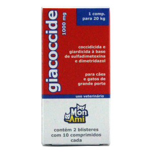Antimicrobiano Giacoccide - 1000mg  - 20 comp