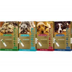 Advocate cães - 0,4ml/1ml/2,5ml/4ml