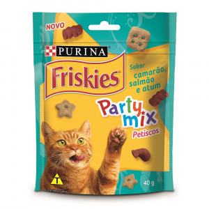 Friskies Party Mix Petiscos - Camarão, Salmão e Atum - 40g