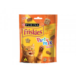 Friskies Party Mix Petiscos - Frango, Fígado e Peru - 40g