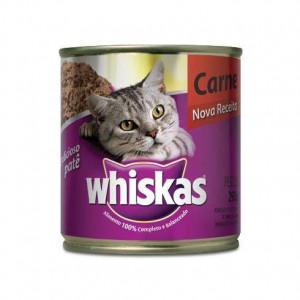Whiskas Lata Patê de Carne - 290g