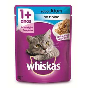 Whiskas Sachê Atum para Gatos Adultos - 85g