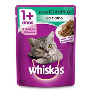 Whiskas Sachê Cordeiro para Gatos Adultos - 85g