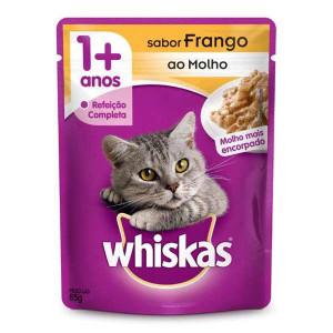 Whiskas Sachê Frango para Gatos Adultos - 85g