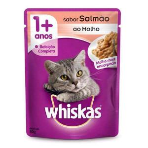 Whiskas Sachê Salmão para Gatos Adultos - 85g