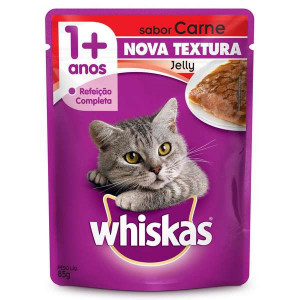 Whiskas Sachê Carne para Gatos Adultos - 85g