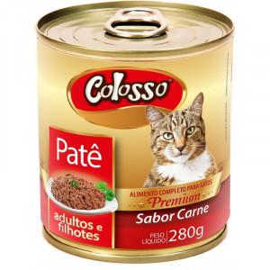 Lata Patê Premium Colosso Gatos Carne - 280g