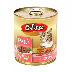Lata Patê Premium Colosso Gatos de Salmão - 280g