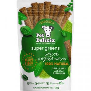 Petisco Pet Delícia Super Greens Sticks - 120g