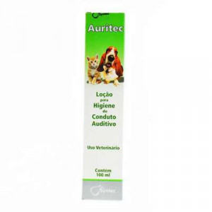 Auritec Cães e Gatos - 100m l Loção Para Higiene Auditiva