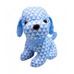 Cachorro Sentado Pano Azul 22cm - Pelúcia