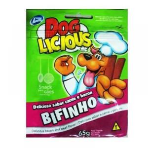 Petisco Dog Licious Bifinho Carne e Bacon - 65g