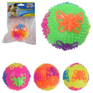 Brinquedo Bola Borboleta Colors com Som e Luz para Cães