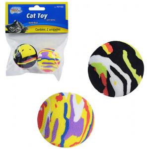 Brinquedo Bola de EVA Colors para Gatos 2 unidade