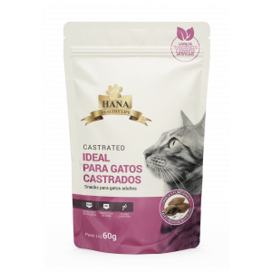 Hana Nuggets Snack Castrated Gatos Adultos - 60g