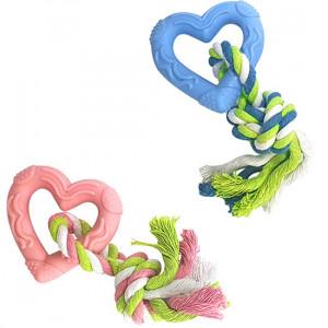 Brinquedo Coração com Corda Premium para Cães