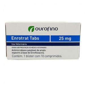 Antibiótico Enrotrat Tabs Display Ourofino - 25mg - C/10