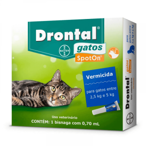 Drontal para Gatos - 2,5kg a 5kg Vermífugo Spot On