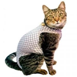 Roupa Pós Castração Pet Med Ultralight Color Geo para Gatos - Cinza