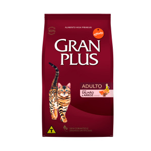 Gran Plus Gato Adulto Salmão e Arroz - 10,1kg