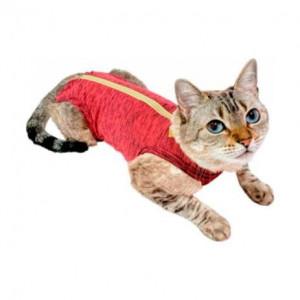 Roupa Cirúrgica Pet Med para Gatos Duo Dry - Rosa