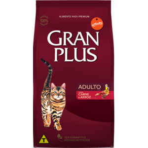 Gran Plus Gatos Adultos Carne e Arroz - 10,1kg