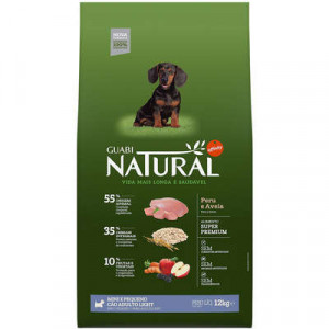 Guabi Natural Cães Adultos Light Mini e Pequeno / Peru e Aveia / 2,5 e 12Kg