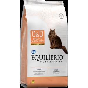 Ração Equilíbrio Veterinary Gato Obesity & Diabetic - 500g/ 2kg