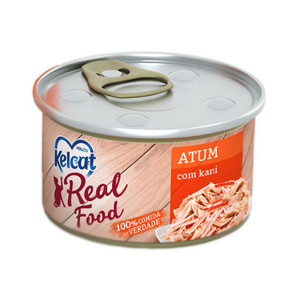 Kelcat Real Food Atum com Kani - 85g