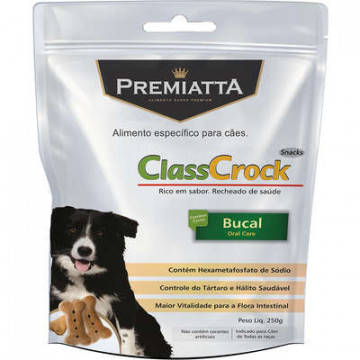 Biscoito Premiatta ClassCrock Snacks Bucal Cães - 250g
