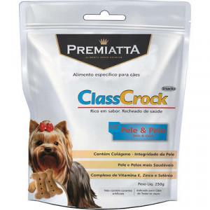 Biscoito Premiatta ClassCrock Snacks Pele & Pelo Cães - 250g