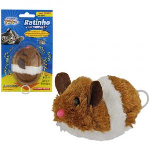 Brinquedo para Gatos Ratinho Vibração a Corda