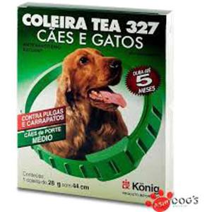 Coleira Tea cão médio - 44cm