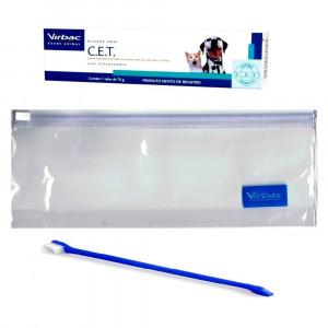 Pasta Dental Virbac CET Cães e gatos - 70g kit dental