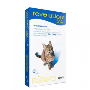 Revolution 6% 0,75ml /Gato 2,6 A 7,5kg