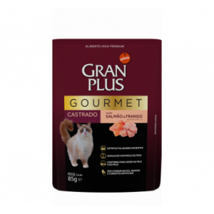 Sachê Gran Plus Gourmet Gatos Castrados Salmão e Frango - 85g