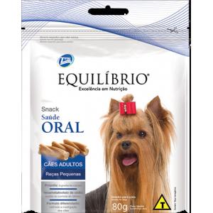 Petisco Equilíbrio Snack Saúde Oral Cães Raças Pequenas - 80g